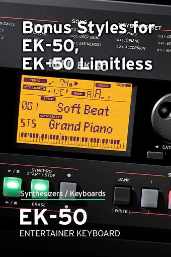 Bonusové štýly pre EK-50
